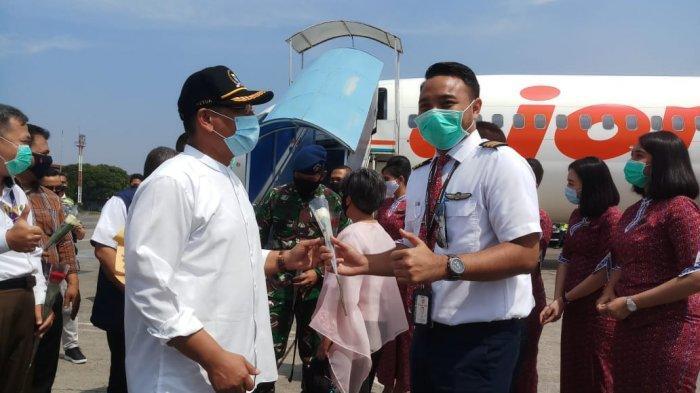 Pesawat Jet Pertama Mendarat di Bandara Husein Sastranegara Layani Rute Penerbangan Domestik