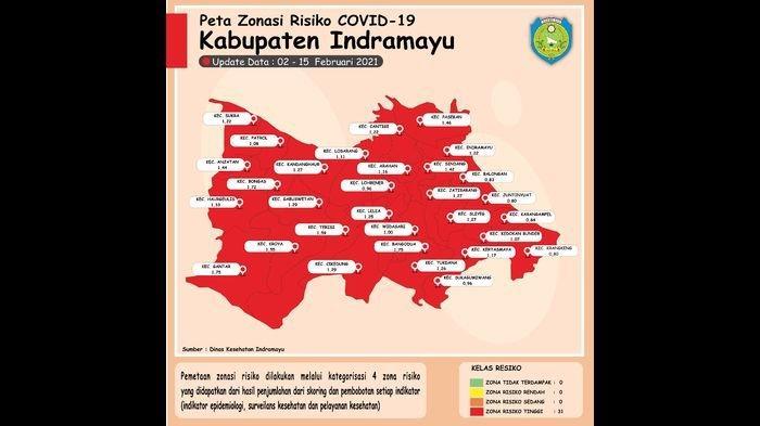 Update Covid-19 Terbaru di Indramyu, Seluruh Kecamatan Kini Berstatus Zona Merah