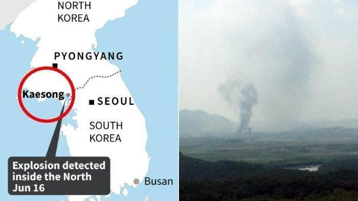 Semenanjung Korea Lagi Panas, Korea Utara Ledakkan Kantor Penghubung Antarkorea di Dekat Kaesong
