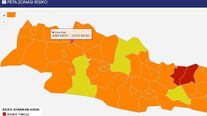 Pekan Ini Lima Daerah di Jabar Masuk Zona Kuning, 20 Daerah Lainnya Masih Berada di Zona Oranye