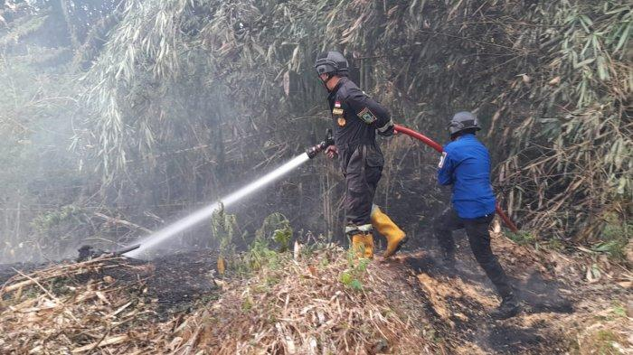 Mau Dikunjungi Presiden Jokowi, Kawasan Belakang Ponpes Miftahul Fallah Kuningan Malah Terbakar