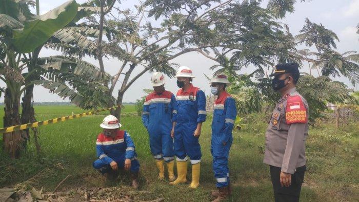 Pipa Gas Pertamina Bocor di Indramayu,  Menyembur Tiap 30 Detik Sekali, Tidak Berdampak ke Warga