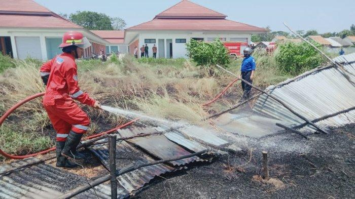 Gara-gara Petasan, Lahan Kosong Didekat Tempat Relokasi Pasar Baru Indramayu Terbakar