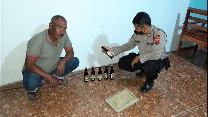 Dalam Seminggu, Polisi Indramayu Razia Ratusan Botol Miras dan Tuak, Penjualnya Diberi Tindakan Ini