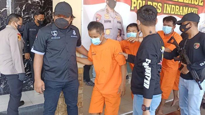 Komplotan Gembos Ban Diringkus Polres Indramayu, Incar Nasabah Bank, Uang Rp 400 Juta Digasak