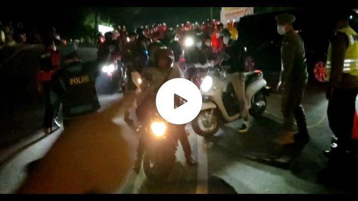 Pos Penyekatan Puncak Cianjur Perbatasan Bogor Jebol Oleh Pemudik Malam Tadi