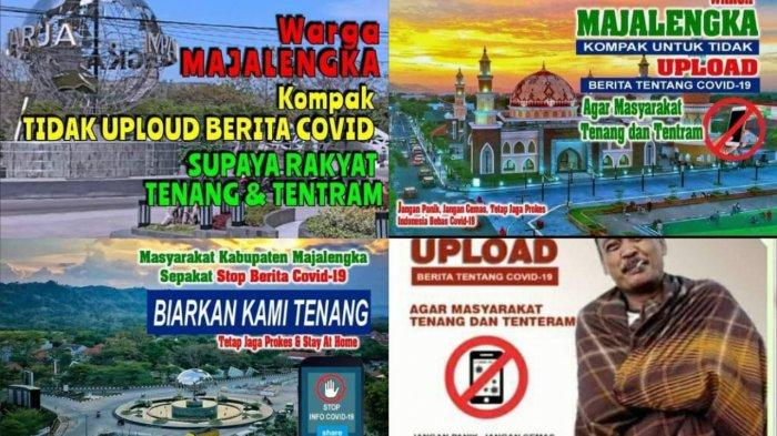Polisi di Majalengka Selidiki Penyebaran Poster Elektronik Ajakan Berhenti Unggah BeritaCovid-19