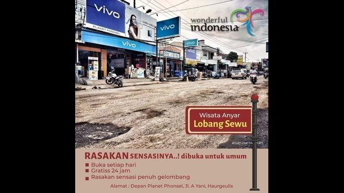 VIRAL Poster 'Objek Wisata Baru' di Indramayu, Namanya Lubang Sewu: Rasakan Sensasi Penuh Gelombang