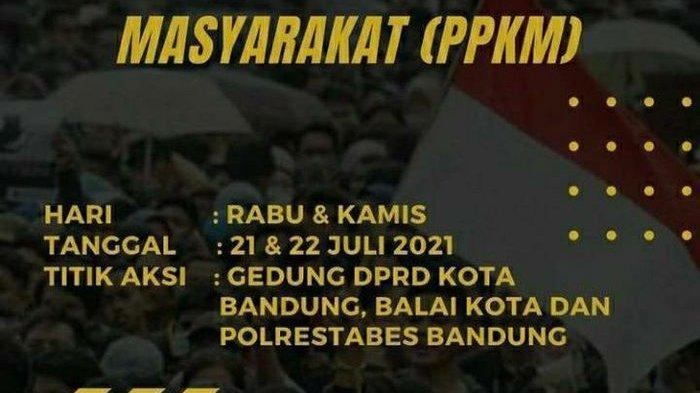 Ajakan Turun ke Jalan Besok Protes PPKM Darurat Tersebar, Polda Jabar Siapkan Pengamanan, Ojol Batal