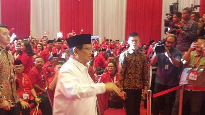 Menhan Prabowo Subianto Disambut Meriah Peserta Rakernas PDIP, Megawati Bilang Begini