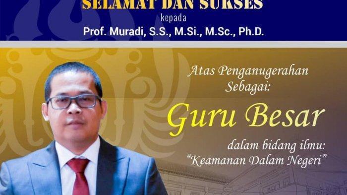 Profil Profesor Muradi Lengkap Umur dan Agama, Guru Besar Unpad yang Jadi Komisaris Waskita