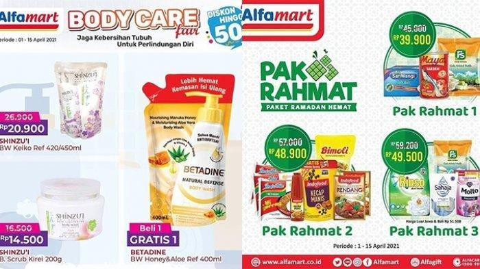 Promo Alfamart hingga 15 April 2021, Ada Diskon 50%, Minyak Goreng Gratisan, Pas Momen Awal Ramadan