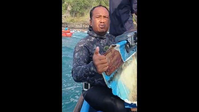 Puing-puing Perahu Nelayan Cedok Pangandaran Ditemukan, Berada di Kedalaman Sekitar 7 M