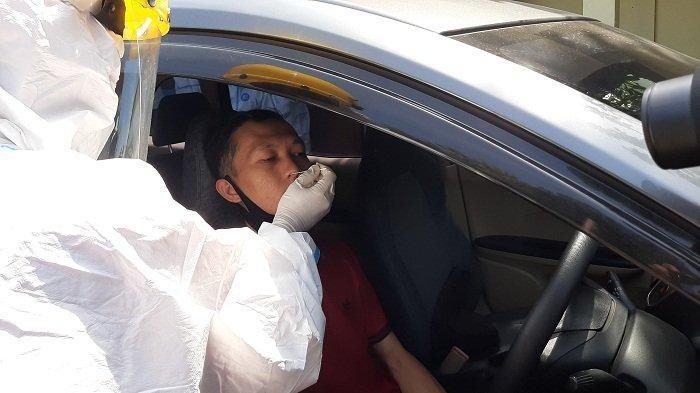 Ratusan Pengendara di Jalur Pantura Cirebon Jalani Rapid Test Antigen Drive Thru
