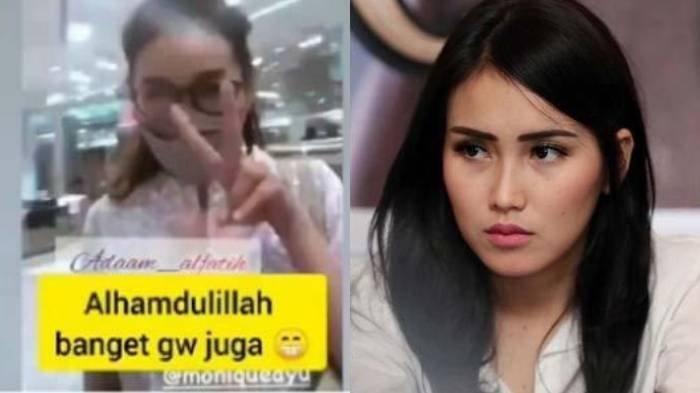 Kolase potongan video reaksi adik Adit Jayusman Monique Ayu dan Ayu Ting Ting