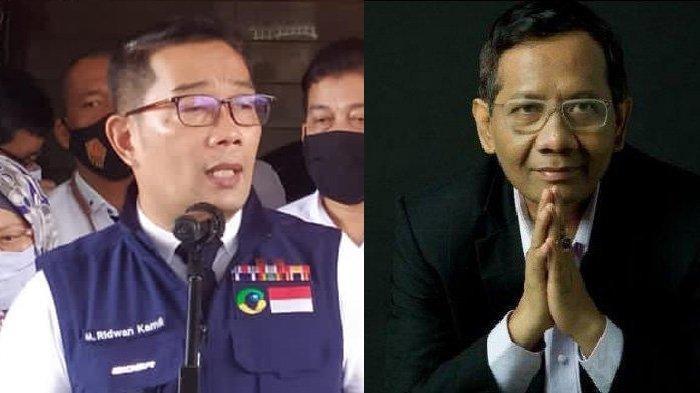 Ridwan Kamil Balas Cuitan Mahfud MD: Mengapa Kepala Daerah Terus yang Diminta Bertanggung Jawab?