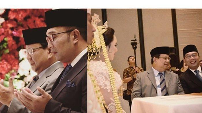 Potret Kemesraan Ridwan Kamil dan Prabowo saat Jadi Saksi Pernikahan Putri Ketua DPRD Jawa Barat