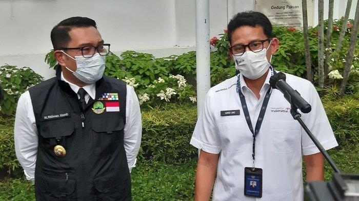 Ridwan Kamil dan Sandiaga Uno Bertemu, Sebut Bukan Tidak Mungkin Berpasangan di Pilpres 2024