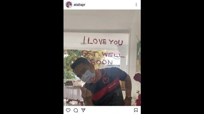 Ridwan Kamil Tulis I Love U Pakai Lipstik, Demi Dukung Istrinya yang Isolasi Mandiri Karena Covid-19