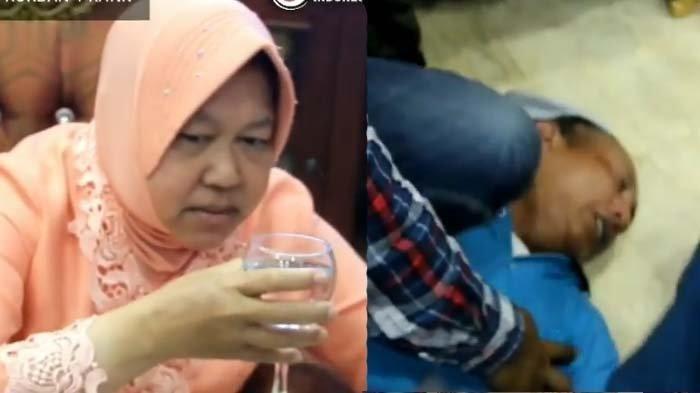 VIDEO VIRAL Risma Wali Kota Surabaya Bantu Wartawan Yang Kesurupan, Endingnya Ngakak