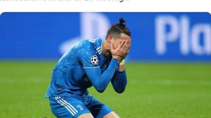 VIDEO Cristiano Ronaldo Menyesal Hingga Tutup Mata Karena Sundul Bola Pakai Bahu, Juventus Keok 0-1