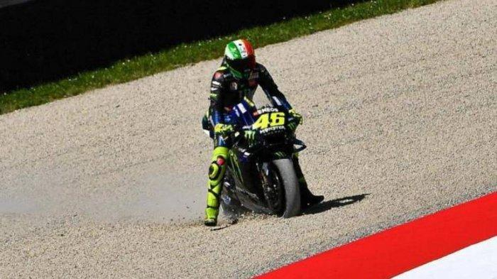 Insiden Tabrakan MotoGP Catalunya 2019, Dua Kali Valentino Rossi Keluar Sirkuit