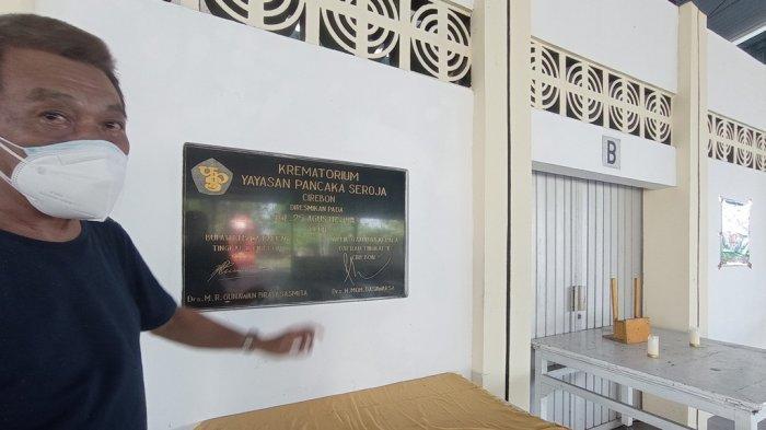 Ruang kremasi jenazah di Krematorium Pancaka Seroja, Kecamatan Lemahwungkuk, Kota Cirebon, Kamis (22/7/2021)