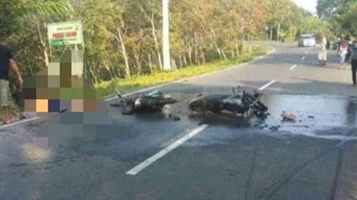 Kecelakaan di Cianjur, Honda Tiger 'Adu Bagong' dengan RX King lalu Motornya Terbakar, 2 Orang Tewas