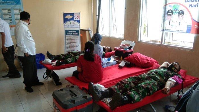 Sebanyak 76 Kantong Darah Terkumpul dari Donor Darah TNI dan Polri di Hari Jadi Majalengka ke-531