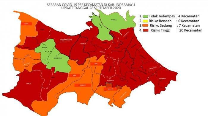 Penyebaran Covid-19 di Indramayu Makin Meluas, 20 Kecamatan Masuk Kategori Rawan