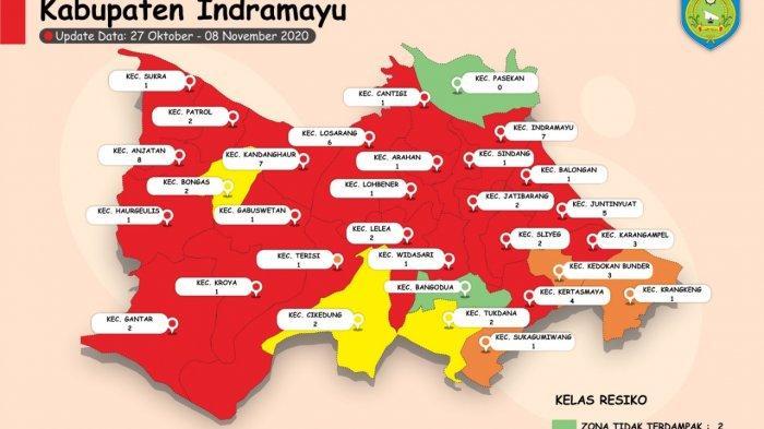 Kabupaten Indramayu Masuk Zona Merah Penyebaran Covid-19, Waspadai Kemunculan Klaster Pilkada