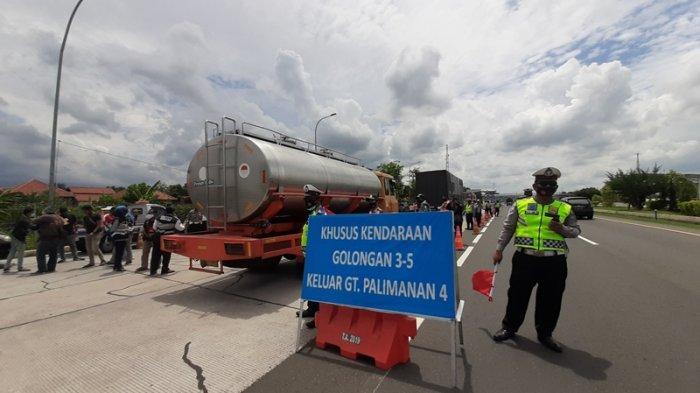 Cegah Kemacetan, Arus Balik Libur Panjang, Kendaraan Besar Dikeluarkan dari GT Palimanan 4