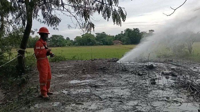Warga Ketakutan Semburan Gas Liar di Indramayu Muncul Lagi, Khawatir Terjadi Bencana Lapindo