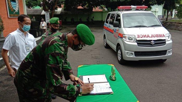 Bank BRI Beri Bantuan Mobil Ambulans ke Kodim 0617 Majalengka, Warga Bisa Pinjam Jika Membutuhkan