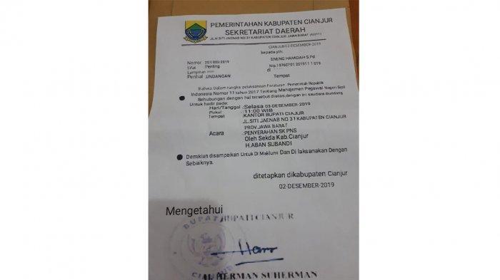 Wanita di Cianjur Ditipu Oknum Yang Memberi SK CPNS Bertanda Tangan Palsu, Sudah Serahkan Uang