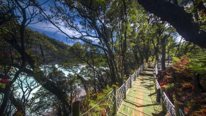 Ini Dia Skywalk Saung Gapuy Sunan Ambu Jembatan 400 Meter di Kawah Putih