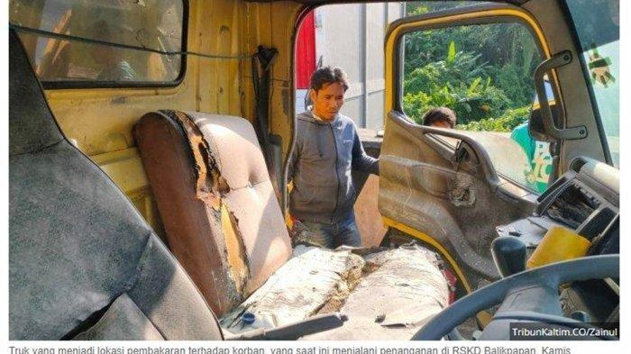 Sembunyi di Hutan, Suami yang Membakar Istri di Mobil Truk ditangkap Polisi, Ini Alasan Bakar Istri