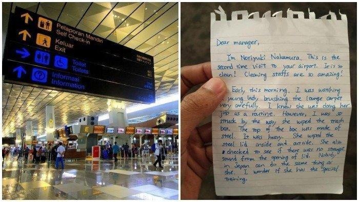 VIRAL Surat Warga Jepang Kagum dengan Tenaga Kebersihan Bandara Soekarno-Hatta, Begini Suratnya