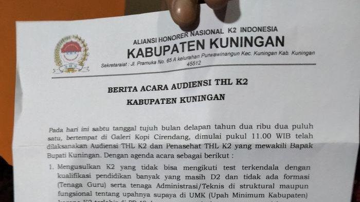 Guru Non-PNS di Kuningan Minta Honor Disetarakan UMK, yang Tak Jadi PPPK Agar Diangkat Jadi PNS