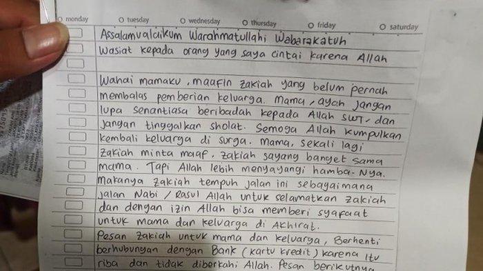 Beredar Surat Wasiat Zakiah, Perempuan Terduga Teroris yang Serang Kantor Kapolri Listyo Sigit