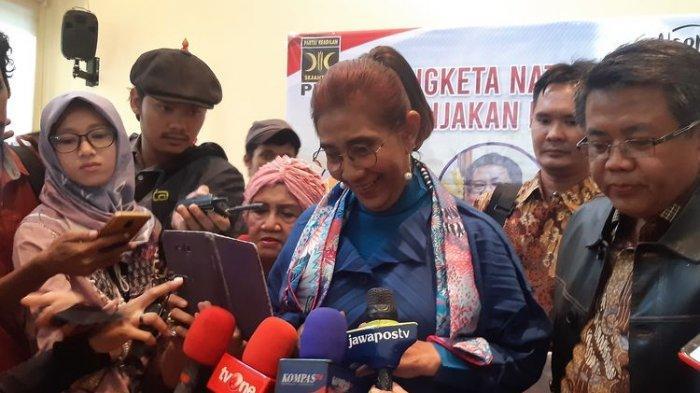 Di Kantor PKS, Susi Pudjiastuti Bilang Kapal Asing Boleh Lewat Natuna Tapi Dilarang Nyolong Ikan