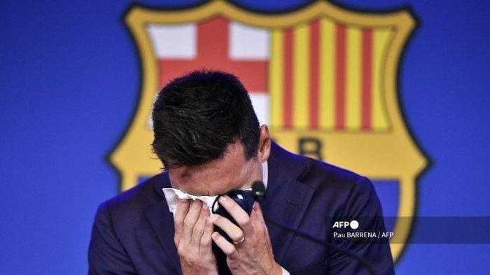 Tangis Messi Pecah Saat Ucap Perpisahan dengan Barcelona, Tinggalkan Blaugrana Setelah 21 Tahun