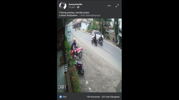 Terekam CCTV Aksi Maling Motor Trail di Majalengka, Ada 2 Pelaku Pencuri, Ini yang Dilakukan Polisi