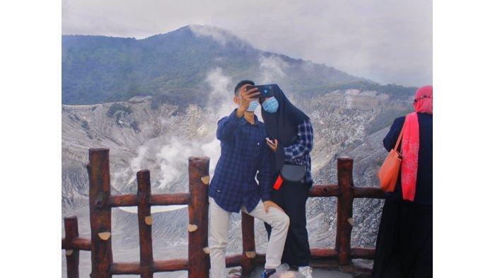 Libur Tahun Baru 2021, TWA Gunung Tangkuban Perahu Sepi Wisatawan Asal Jabotabek