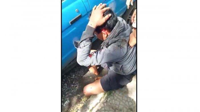 Lagi Viral di WhatsApp, Video 33 Detik Perlihatkan Maling Digebukin Massa, Ditanya