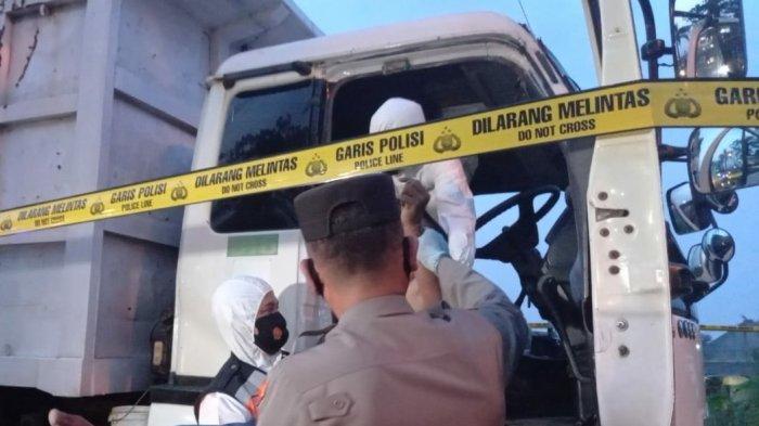 Terparkir Sejak Minggu Malam, Sopir Truk Tronton Ditemukan Tewas Tak Bernyawa di Kabin Mobil