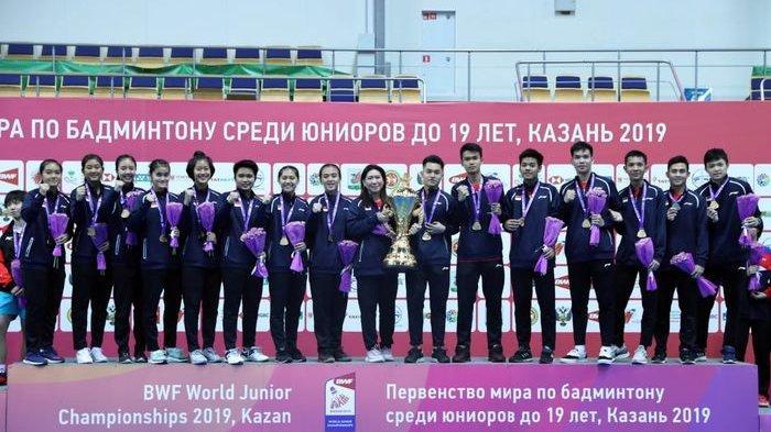 Tumbangkan Tim China, Tim Bulu Tangkis Junior Indonesia Raih Piala Suhandinata Untuk Pertama Kalinya