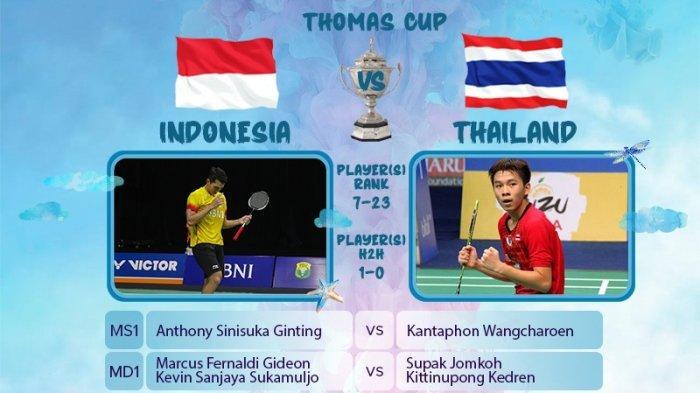 Tim Thomas Indonesia vs Thailand.