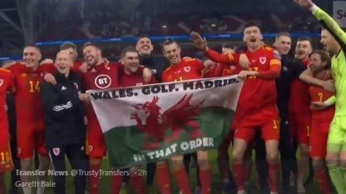 Gareth Bale Rayakan Wales Lolos Euro 2020 Bawa Bendera Tidak Lazm