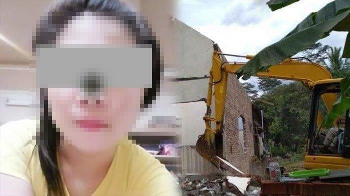 TKW Pulang Kampung Langsung Cerai, Merasa Sakit Hati Sang Suami Bongkar Rumah Pakai Eskavator